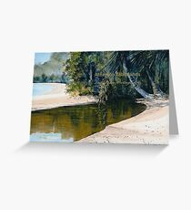 Tidal Creek, Dunk Island Greeting Card