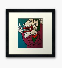DR. BRAIN  PICASSO STYLE Framed Print