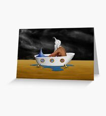 SURREALISM - Day Dreaming Bath Greeting Card