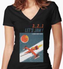 Let's Jam - Cowboy Bebop Women's Fitted V-Neck T-Shirt