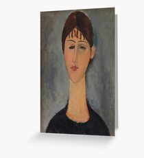 Amedeo Modigliani - Portrait of Mme Zborowska 1918 Woman Portrait Italian Fashion  Greeting Card