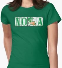 Irish NOLA Street Tiles  Womens Fitted T-Shirt
