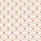 Love hearts damask pattern by shadee