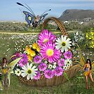 Spring Basket Gatherers by NadineMay