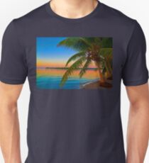 Guatemala. Atlantic Coast. Palm Tree. Sunset. T-Shirt