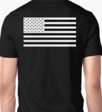 American Flag, NEGATIVE, America, Americana, on black, Stars & Stripes, Pure & Simple, USA T-Shirt