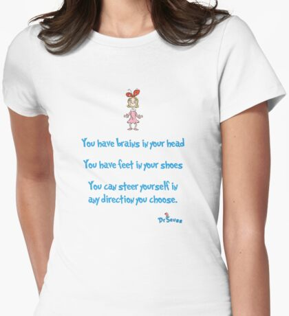 Yo have brains Womens Fitted T-Shirt