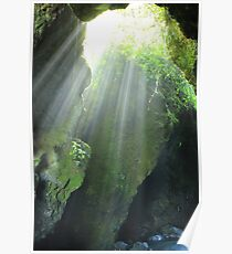Sunlight Streaming Into a Cave Poster