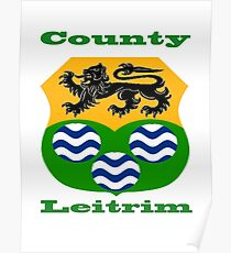 County Leitrim Coat of Arms Poster