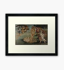 Botticelli  - The birth of Venus 1483 - 1485 Woman Portrait Fashion Framed Print