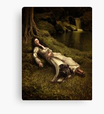 Watching over her sleep Canvas Print