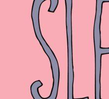 No Sleep Club (pink) Sticker