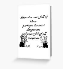 Libraries Greeting Card