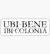 UBI BENE IBI COLONIA Vintage Sticker