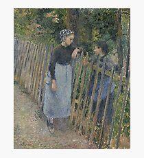 Camille Pissarro - Conversation  1881 French Impressionism Landscape Photographic Print