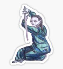 Martial Arts Lady 3 Sticker