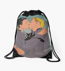 Sailor Kiss Drawstring Bag