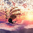 Fairy air windcatcher over the clouds by Gatterwe