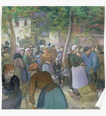 Camille Pissarro - Poultry Market at Gisors 1885 French Impressionism Landscape Poster