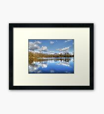 Lake Reflections HDR Framed Print
