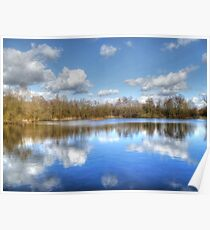 Lake Reflections HDR Poster