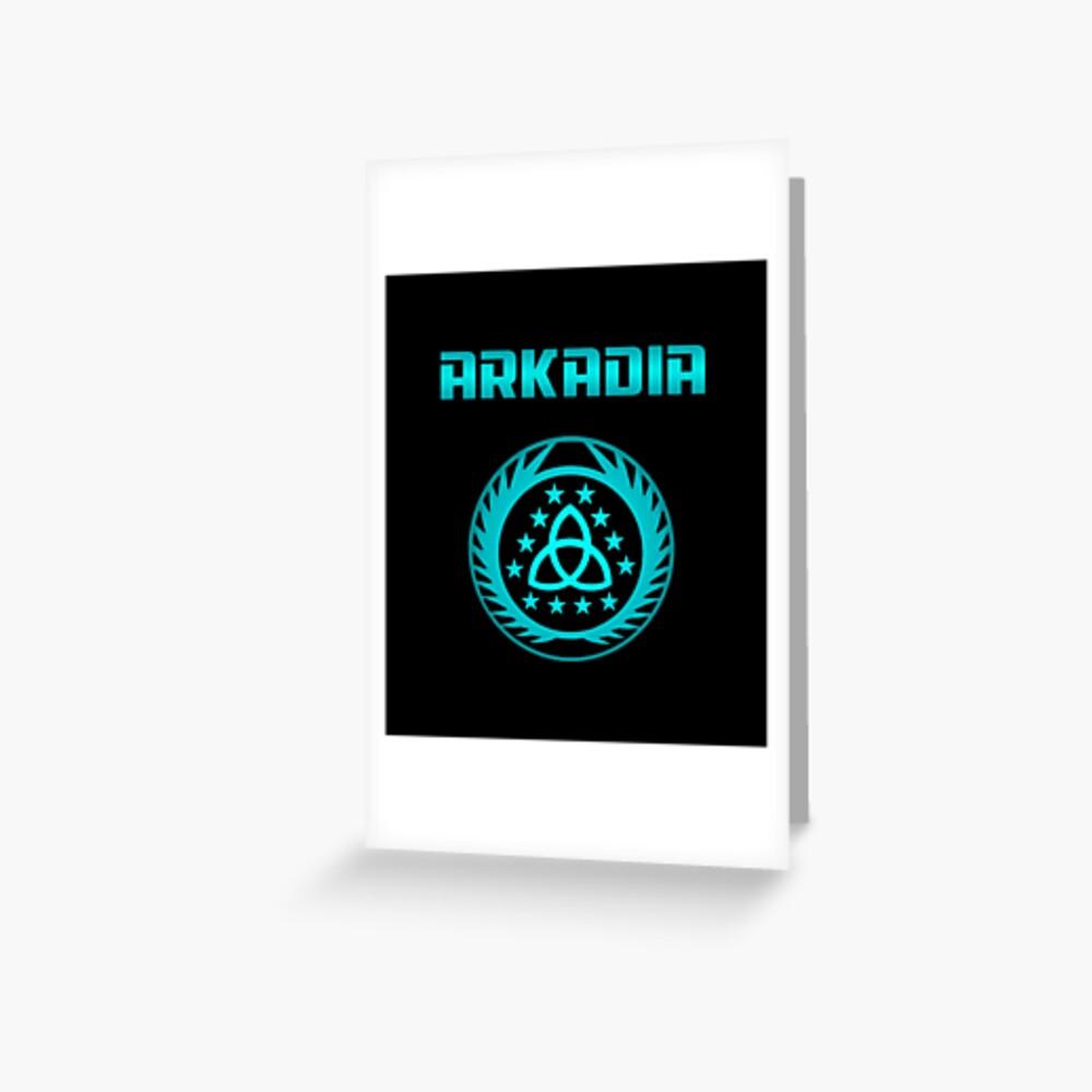 Arkadia Logo Grußkarte