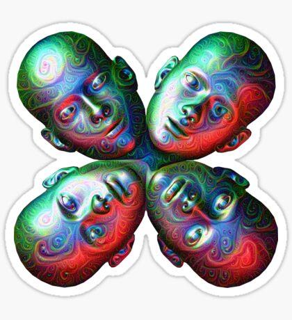 #DeepDream Masks - Heads 5x5K v1455792443 Sticker