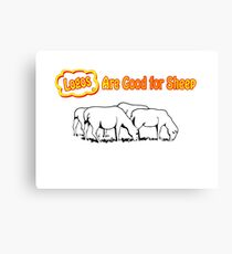 Logos are Good for Sheep White Canvas Print