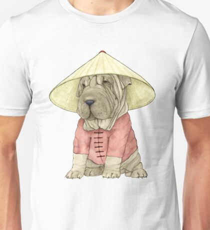 Shar Pei on The Great Wall Unisex T-Shirt