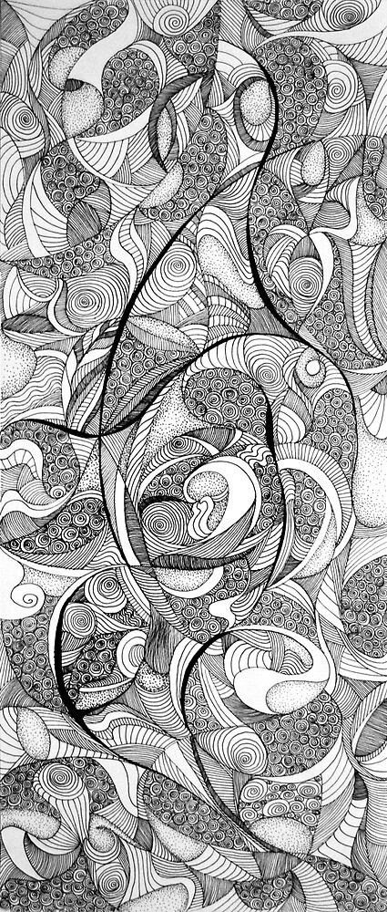 Playing memories, 2015, 20-50cm, ink on paper by oanaunciuleanu