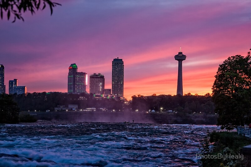 Sunset at the Falls by Photos by Healy