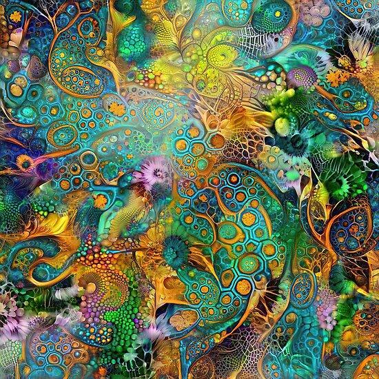 Deepdream floral fractalize abstraction