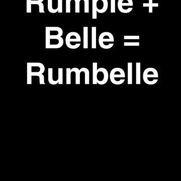 Rumple + Belle = Rumbelle by LilacFoxDesigns