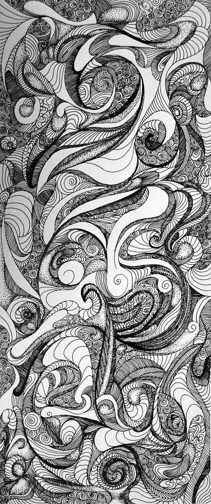 The Jester, 2015, 20-50cm, ink on paper by oanaunciuleanu
