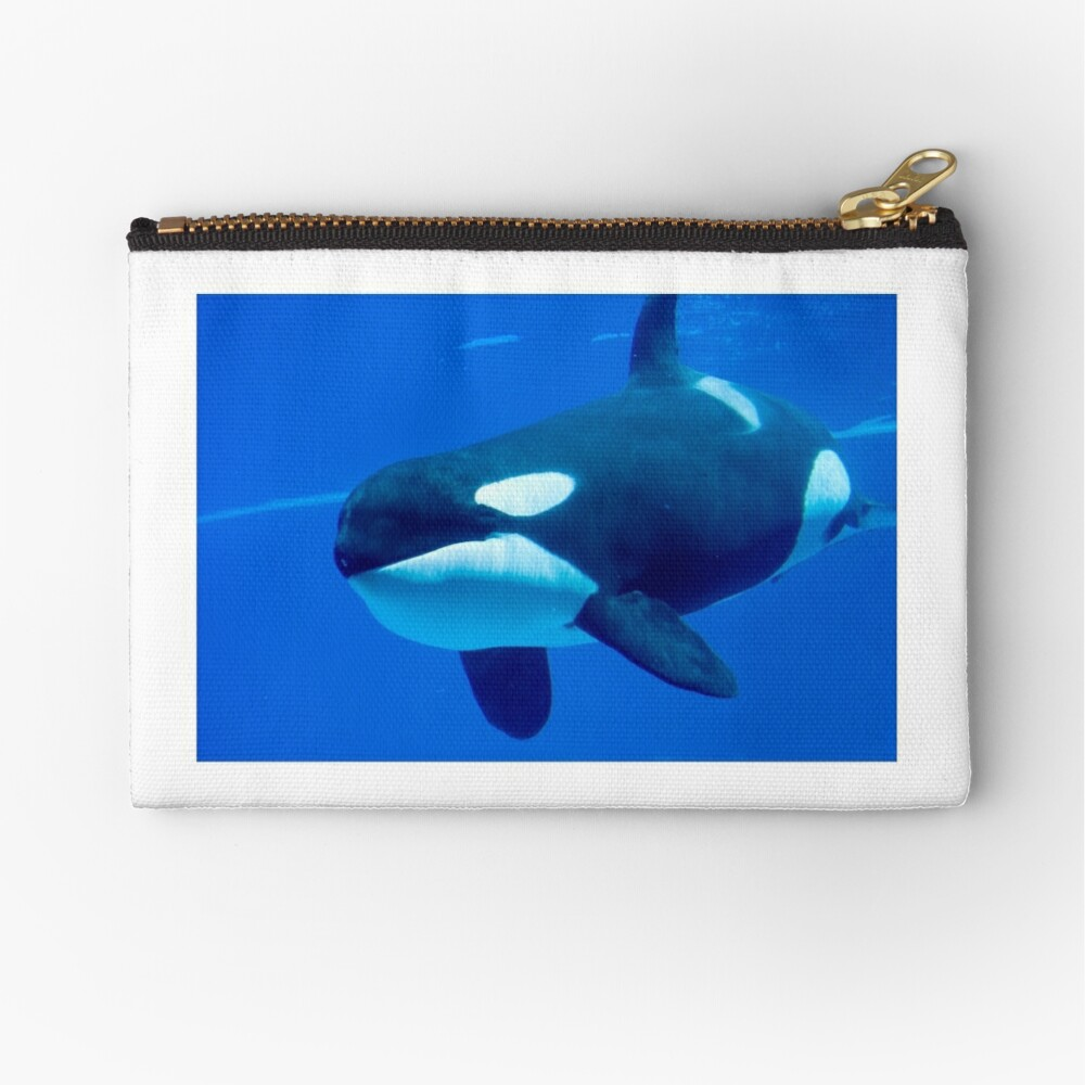 Killer whale Zipper Pouch