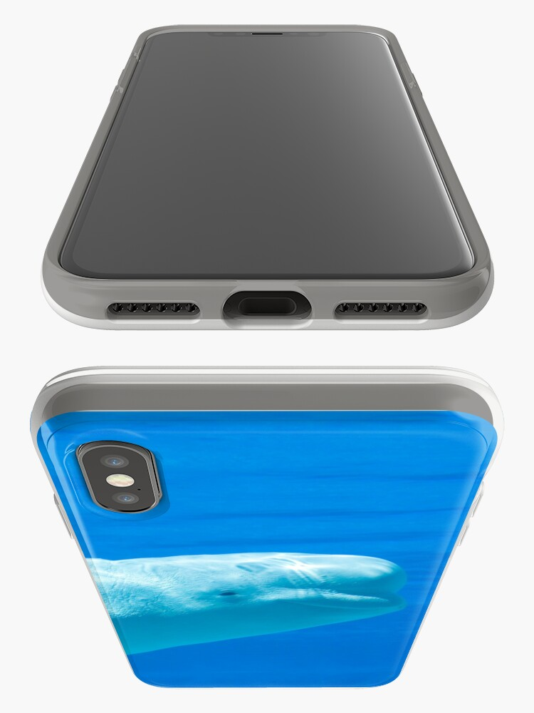 Alternate view of Smiling beluga whale iPhone Case & Cover