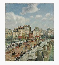 Camille Pissarro - The Pont-Neuf 1902 French Impressionism Landscape Photographic Print