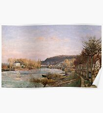 Camille Pissarro - The Seine at Bougival 1870 French Impressionism Landscape Poster