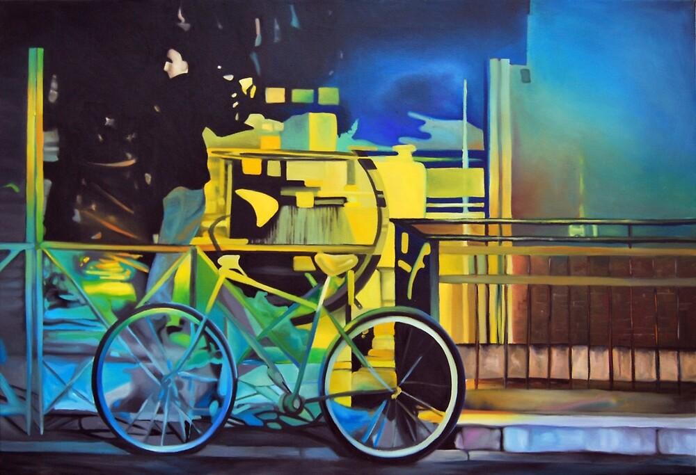 Fantasy city, 2014, 120-80cm, oil on canvas by oanaunciuleanu