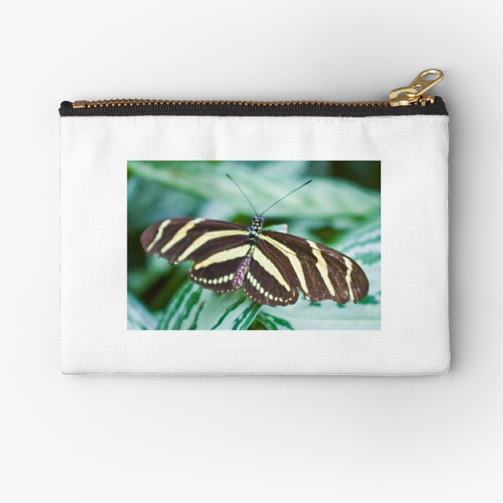Black and yellow butterfly Zipper Pouch