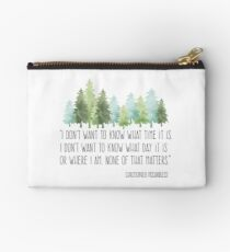 Into the Wild with Christopher McCandless Zipper Pouch