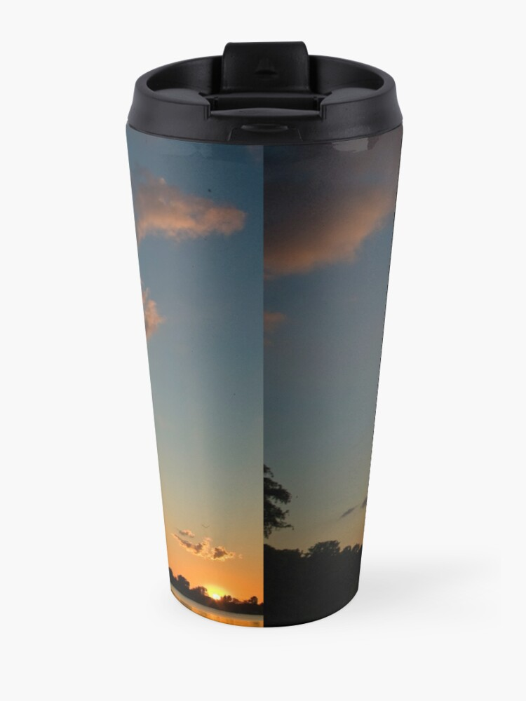 Alternate view of Sunset over the water Travel Mug