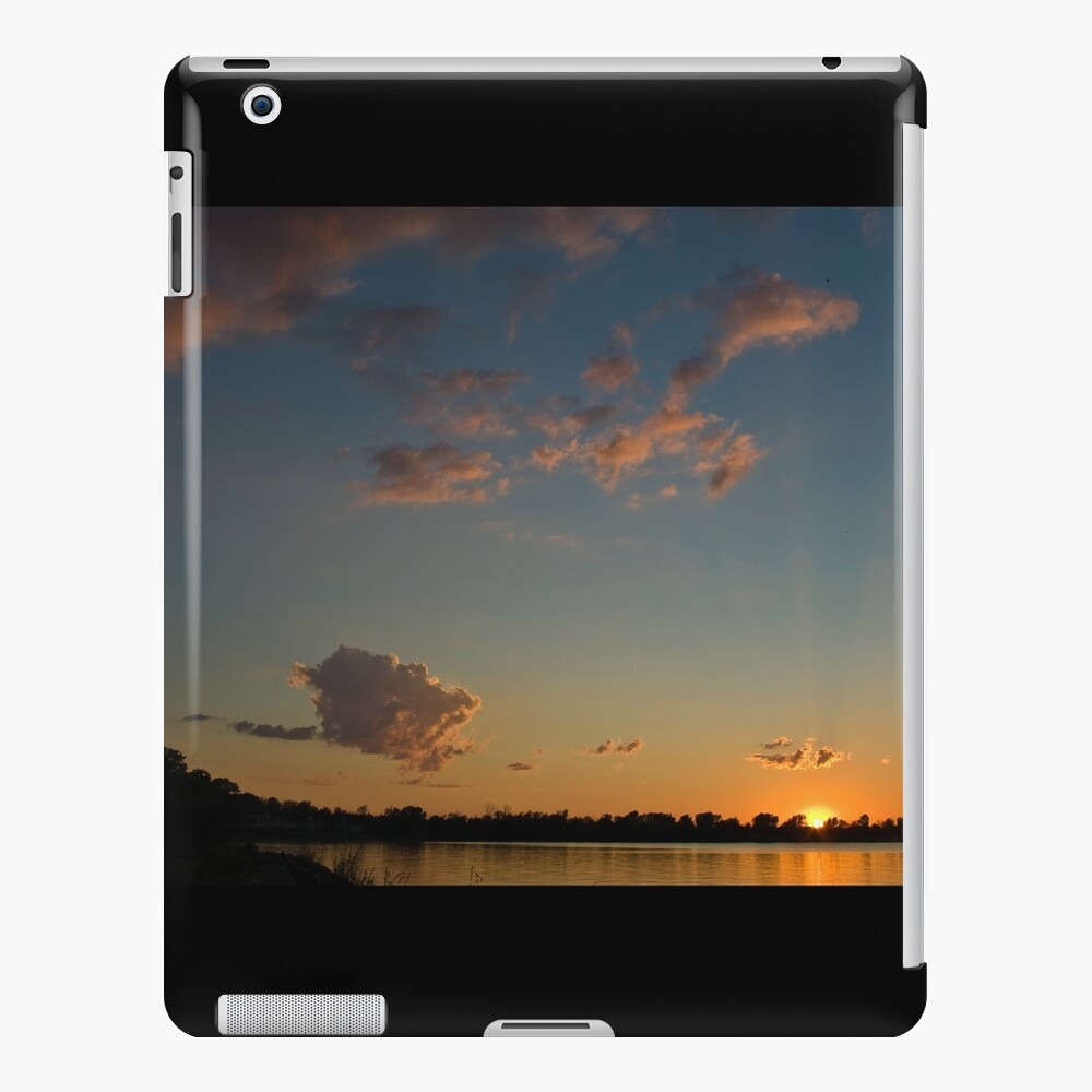 Sunset over the water iPad Case & Skin