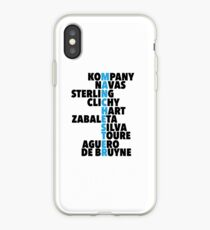 Manchester City spelt using player names iPhone Case