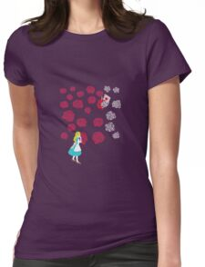 Painting the Roses Red Womens Fitted T-Shirt