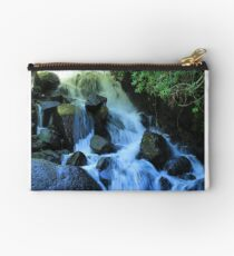 Small Waterfall and Rocks Studio Pouch