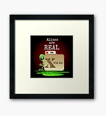 Aliens are Real Framed Print