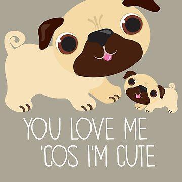 You Love Me . . . (Pug) ©BonniePortraits.com by BonniePortraits