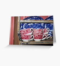Oldfashioned Tableware - Macro Photography Greeting Card