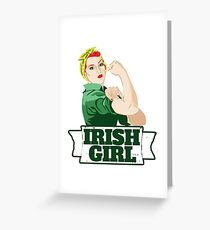 Irish Girl Greeting Card